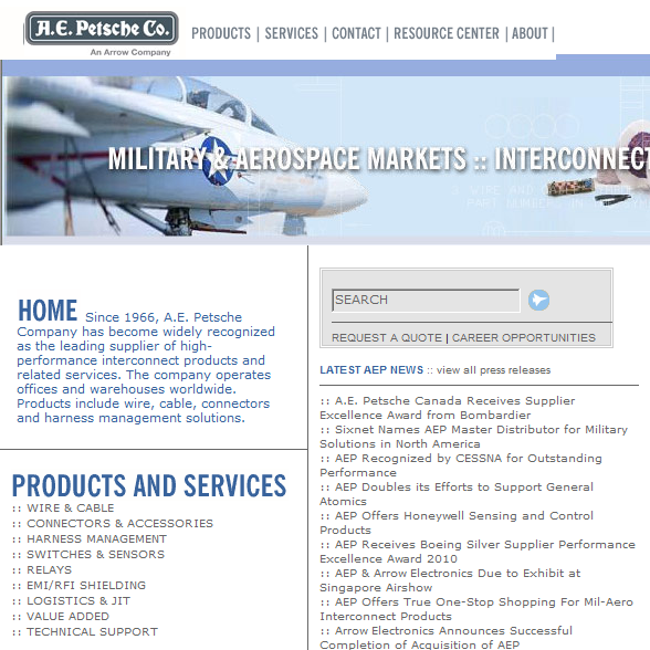 A.E. Petsche wire & cable, connectors, harness management ... on